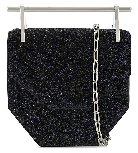M2MALLETIER Mini Amor shoulder bag (Mightnight blue