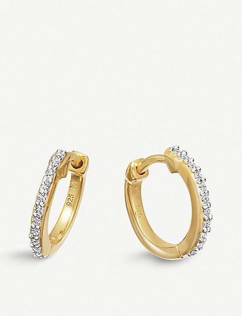 MISSOMA 18ct gold vermeil pave hoop earrings
