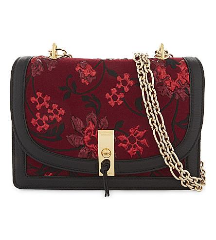 ALTUZARRA Ghianda floral-brocade shoulder bag (Garnet