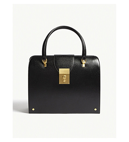 Mrs THOM Thom textured leather Mrs Black THOM BROWNE Thom BROWNE textured bag TFnRBtn