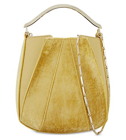 EDDIE BORGO Pepper Pochette mini shoulder bag (Amber+velvet