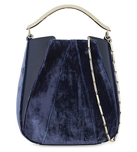 EDDIE BORGO Pepper Pochette mini shoulder bag (Sapphire velvet