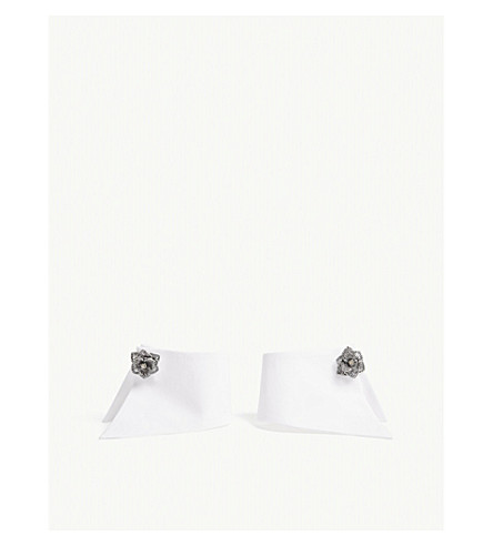 CATHERINE OSTI Priscille cotton cuffs (White