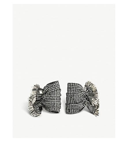 CATHERINE OSTI Suzanne houndstooth cuffs (Black/white