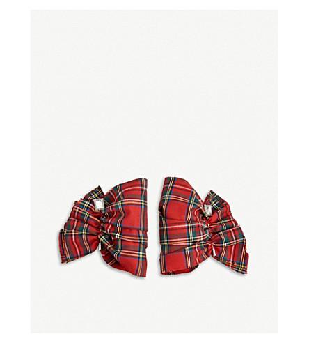 CATHERINE OSTI Wallace tartan cuffs (Red