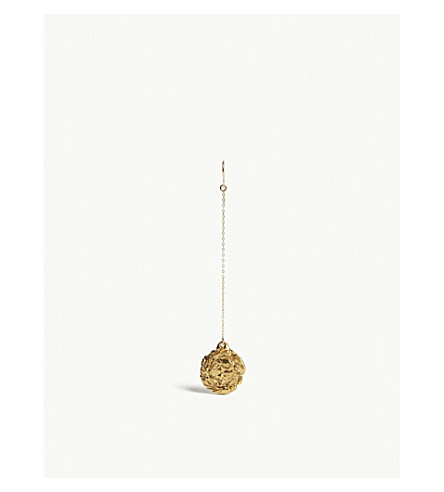 ALIGHIERI Fortuna gold-played earring (Gold