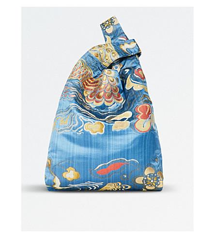 HAYWARD Silk embroidered shopper bag (Azzuro