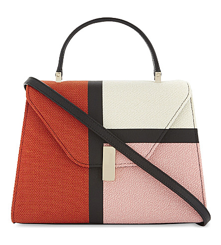 VALEXTRA Iside leather cross-body bag (Pink/+red/+white/black