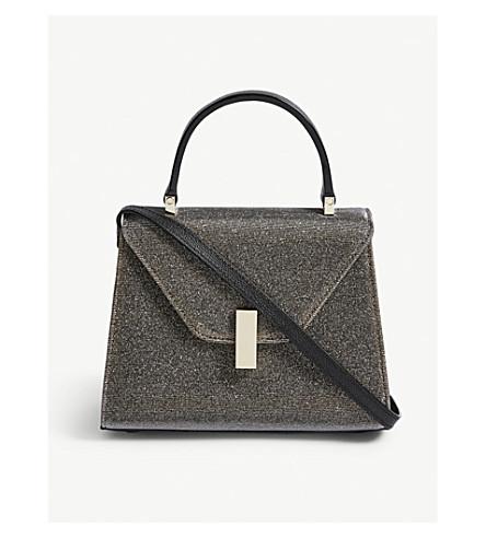 VALEXTRA Glitter Iside Gioiello leather mini bag (Silver