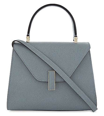 VALEXTRA Iside mini pebbled leather cross-body bag (Polvere