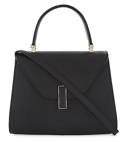VALEXTRA Iside mini grained-leather cross-body bag (Nero+opaco