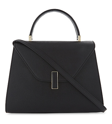 VALEXTRA Iside medium grained-leather cross-body bag (Nero+opaco