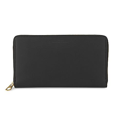 BYREDO Matte leather zip-around wallet (Black