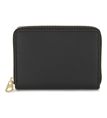 BYREDO Small zip-around leather purse (Black