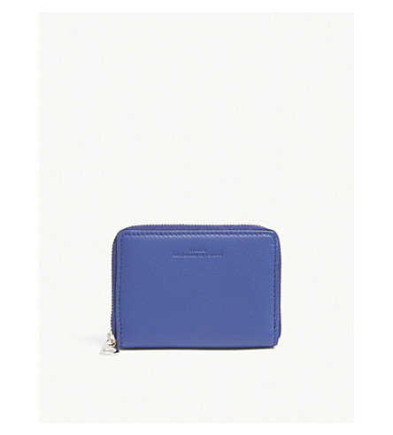 BYREDO Small zip-around leather purse (Blue