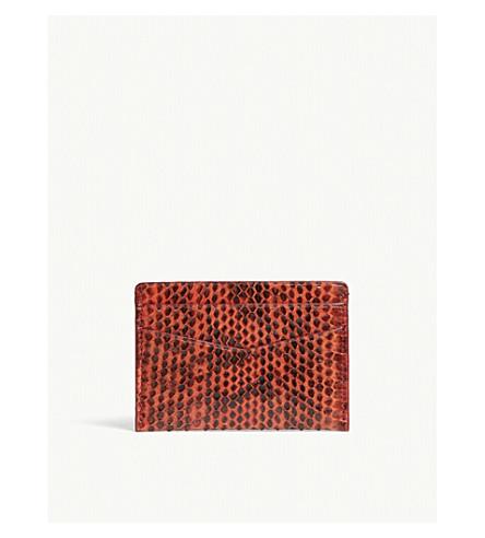 BYREDO Snakeskin leather card holder (Red