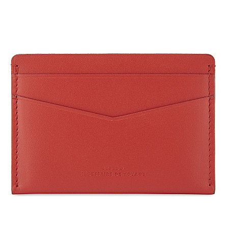 BYREDO Matte leather card holder (Red