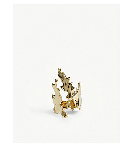 ANNELISE MICHELSON Sea Leaves ring (Gold