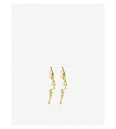 ANNELISE MICHELSON Lava gold-toned drop earrings (Gold