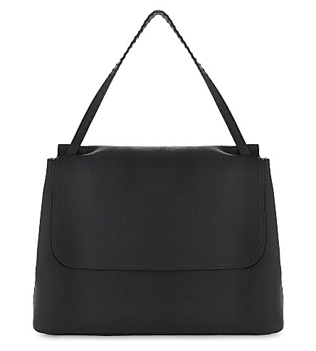 THE ROW Leather shoulder bag (Black+pebbled