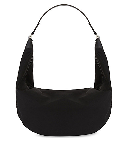 THE ROW Core Sling 15 shoulder bag (Black+pebbled