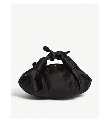 THE ROW Small Ascot satin bag (Black