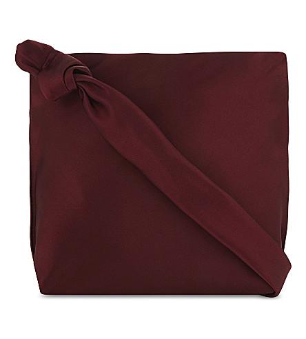 THE ROW 徘徊肩包 (深色 + 胭脂红 + pld