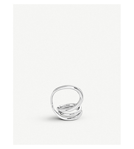 CHARLOTTE CHESNAIS Wraparound sterling silver ring (Silver