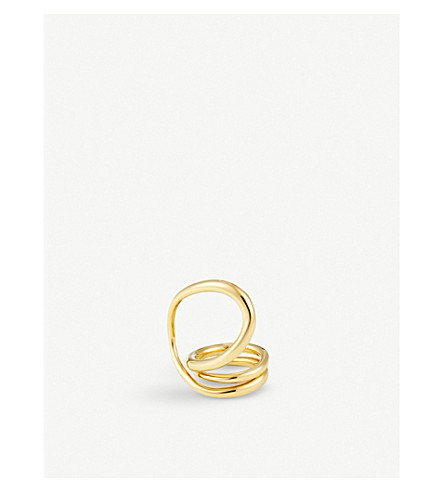 CHARLOTTE CHESNAIS Round Trip gold-plated ring (Yellow+vermeil