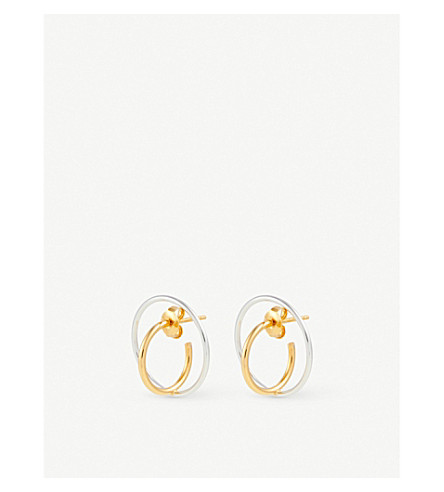 CHARLOTTE CHESNAIS Saturn small earrings (Yellow+vermeil/silver