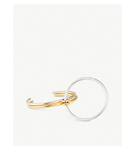 CHARLOTTE CHESNAIS Three Lovers gold vermeil and silver bracelet (Silver/pink/yellow