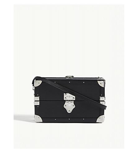 PINEL ET PINEL Mini Malle calfskin cross-body bag (Black/silver