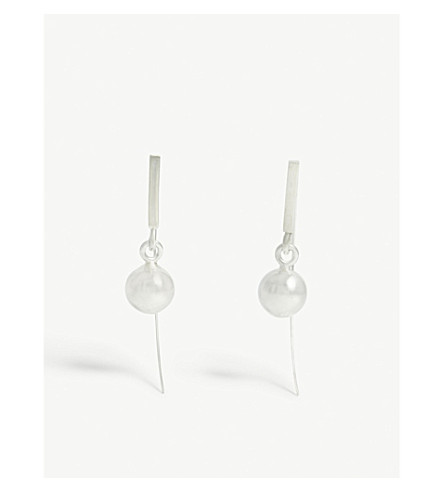 GALA COLIVET DENNISON Small sterling silver ball earrings (Sterling+silver
