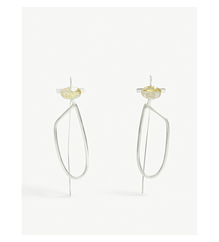 GALA COLIVET DENNISON Spike rutile-quartz stirling silver earrings (Sterling+silver