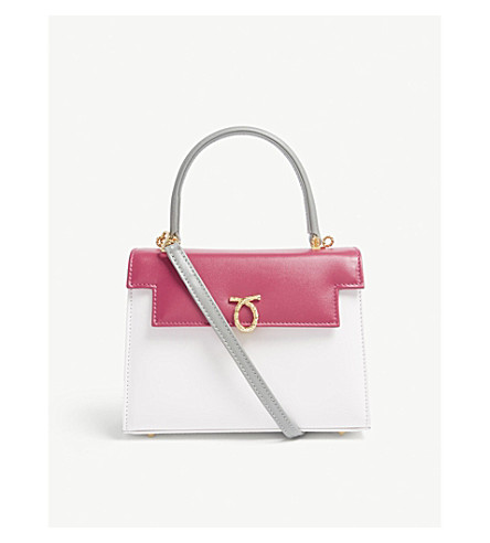 LAUNER JUDI TRI-COLOUR LEATHER TOTE