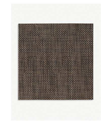 CHILEWICH Basketweave square placemat 33 x 36 cm