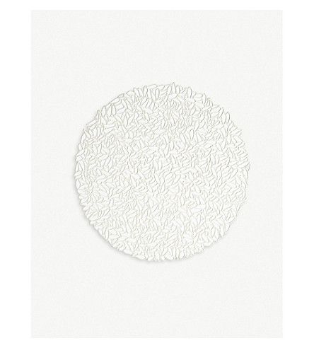 CHILEWICH Petal cut-out round woven placemat 38 cm