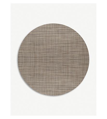 CHILEWICH Basketweave round placemat 38 cm