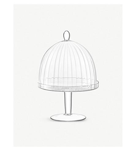 LSA Aurelia glass dome and stand 34cm