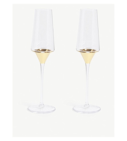 LSA Space champagne flute set of two