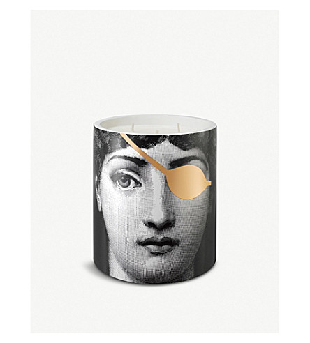 FORNASETTI L ' eclaireuse Mistero 陶瓷大蜡烛900g