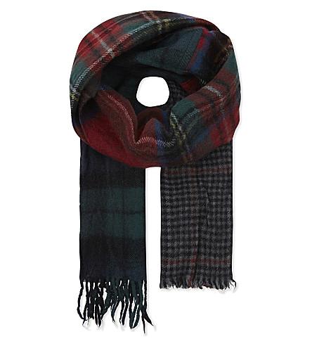 COMME DES GARCONS Tartan check wool scarf (Tartan+1