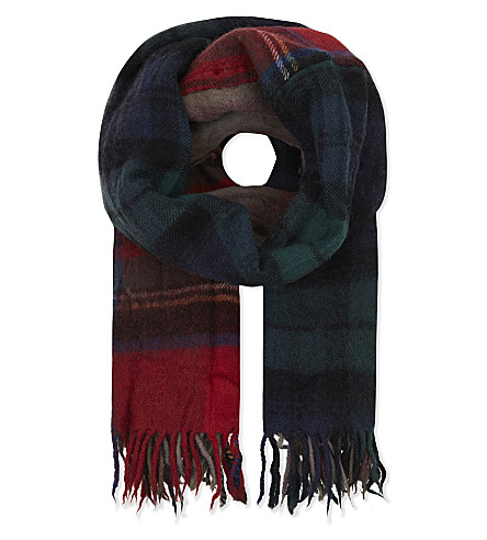 COMME DES GARCONS Large checked wool scarf (Tartan+1
