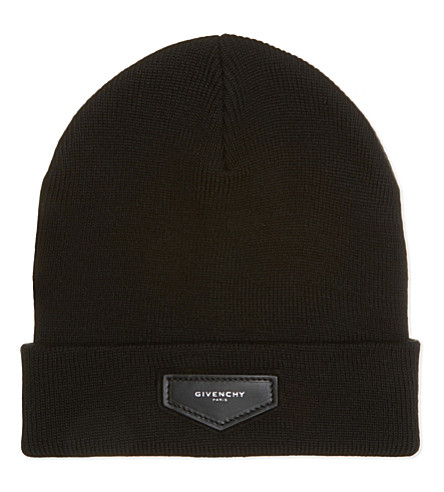 GIVENCHY Logo wool-blend beanie (Black