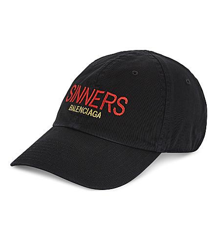 BALENCIAGA - Sinner Capsule cotton strapback cap  cec18f8303fd