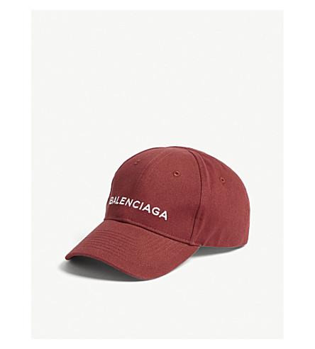 BALENCIAGA Logo cotton baseball cap (Bordeaux