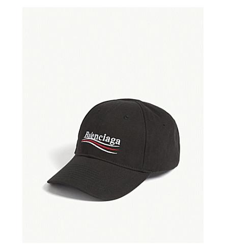 BALENCIAGA Bernie cotton strapback cap (Black