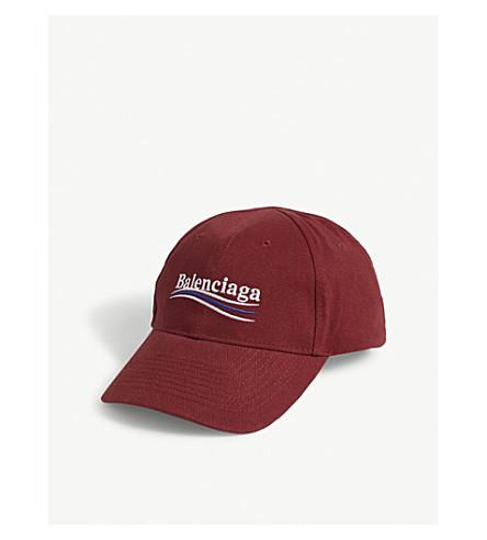 BALENCIAGA Bernie cotton strapback cap (Bordeaux