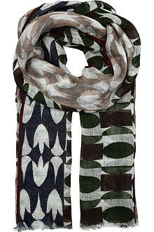 ALTEA Contrast circle scarf