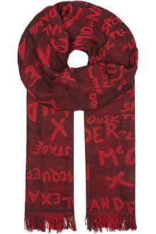 MCQ ALEXANDER MCQUEEN Reversible lumberjack scarf